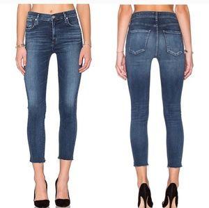 Agolde High Rise Sofia Crop Jeans 24